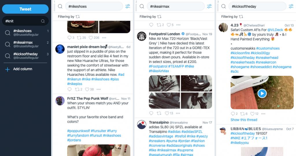 monitoring in tweetdeck